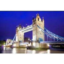 Fotobehang Papier London | Blauw | 254x184cm