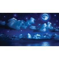 Fotobehang Papier Nacht | Blauw | 368x254cm