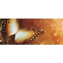 Fotobehang Vlinder | Goud | 250x104cm
