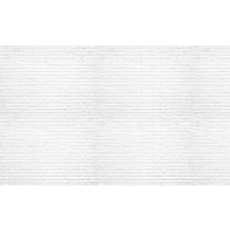 Fotobehang Papier Muur, Bakstenen | Wit | 254x184cm