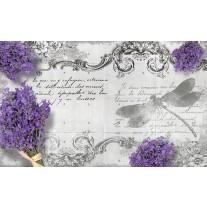 Fotobehang Papier Betonlook, Bloemen | Grijs | 254x184cm