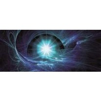Fotobehang Abstract | Blauw | 250x104cm