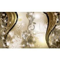 Fotobehang Papier Abstract, Bloem | Goud | 254x184cm