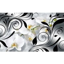 Fotobehang Papier Orchidee, Bloem | Wit | 254x184cm
