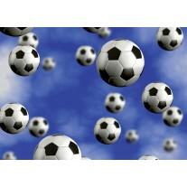 Fotobehang Papier Voetbal | Blauw | 254x184cm