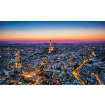 Fotobehang Papier Parijs | Blauw | 368x254cm