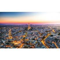Fotobehang Papier Parijs | Geel | 254x184cm