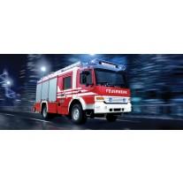 Fotobehang Auto, Brandweer | Rood | 250x104cm
