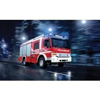 Fotobehang Papier Auto, Brandweer | Rood | 368x254cm
