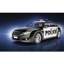 Fotobehang Papier Politieauto | Zwart | 254x184cm