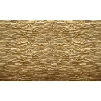 Fotobehang Papier Stenen, Muur | Geel | 254x184cm