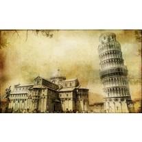 Fotobehang Papier Pisa | Sepia | 254x184cm