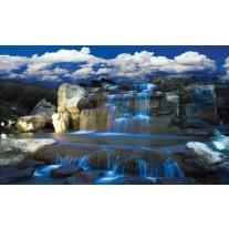 Fotobehang Natuur, Waterval | Blauw | 152,5x104cm