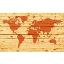 Fotobehang Papier Wereldkaart | Oranje | 368x254cm
