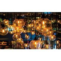Fotobehang Papier Lampen | Geel, Bruin | 254x184cm