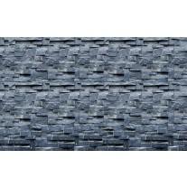 Fotobehang Muur, Stenen | Blauw | 152,5x104cm