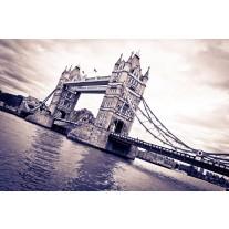 Fotobehang Papier London, Brug | Grijs | 254x184cm