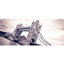 Fotobehang London, Brug | Grijs | 250x104cm