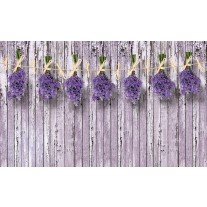 Fotobehang Papier Hout, Bloemen | Paars | 254x184cm