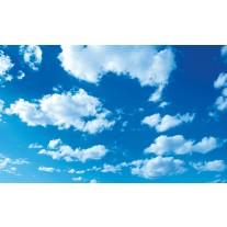 Fotobehang Papier Lucht, Zon | Blauw | 254x184cm