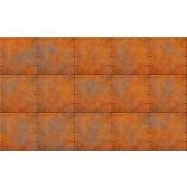 Fotobehang Papier Metaallook | Bruin, Oranje | 254x184cm