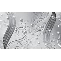 Fotobehang Papier Abstract   Zilver   254x184cm