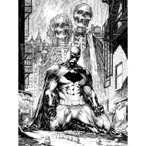 Fotobehang Papier Batman   Zwart, Wit   184x254cm