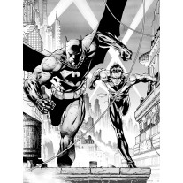Fotobehang Papier Batman | Zwart, Wit | 184x254cm