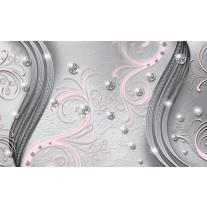 Fotobehang Papier Modern | Zilver, Roze | 254x184cm