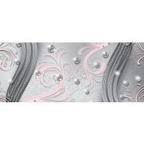 Fotobehang Modern | Zilver, Roze | 250x104cm