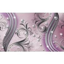 Fotobehang Papier Modern | Zilver, Paars | 254x184cm