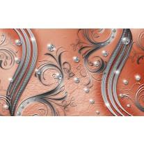 Fotobehang Papier Modern | Zilver, Oranje | 254x184cm