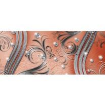 Fotobehang Modern | Zilver, Oranje | 250x104cm