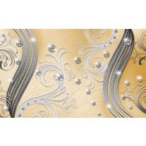 Fotobehang Papier Modern | Zilver, Geel | 368x254cm