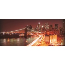 Fotobehang New York | Oranje | 250x104cm