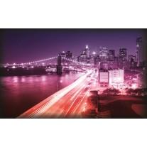 Fotobehang Papier New York | Paars | 254x184cm