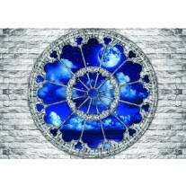 Fotobehang Papier Muur, Nacht | Blauw | 254x184cm