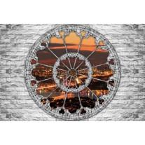 Fotobehang Muur, Steden | Grijs | 152,5x104cm