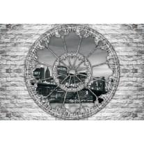 Fotobehang Papier New York, Muur | Grijs | 254x184cm