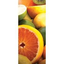 Deursticker Muursticker Fruit, Keuken | Oranje | 91x211cm