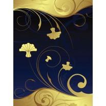 Fotobehang Papier Abstract   Geel, Blauw   184x254cm