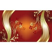 Fotobehang Papier Klassiek, Bloemen | Oranje | 254x184cm