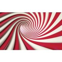 Fotobehang Papier Design, Slaapkamer | Rood, Wit | 368x254cm