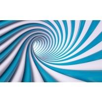 Fotobehang Design | Blauw, Wit | 152,5x104cm