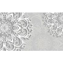 Fotobehang Papier Bloemen | Wit, Grijs | 254x184cm