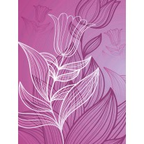 Fotobehang Papier Bloem | Paars, Roze | 184x254cm