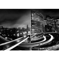 Fotobehang Papier Steden | Zwart, Wit | 254x184cm