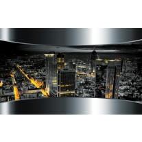 Fotobehang Papier Skyline, Steden | Zilver | 254x184cm