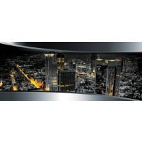 Fotobehang Skyline, Steden | Zilver | 250x104cm