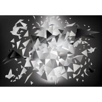 Fotobehang 3D, Origami | Grijs | 152,5x104cm